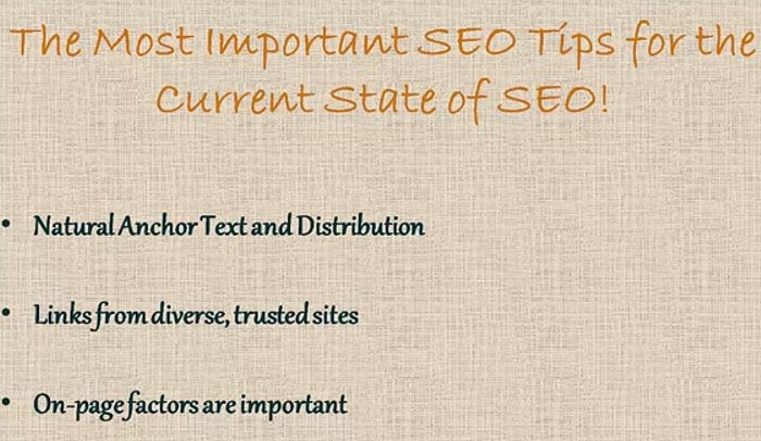 This Year's Top SEO Tips